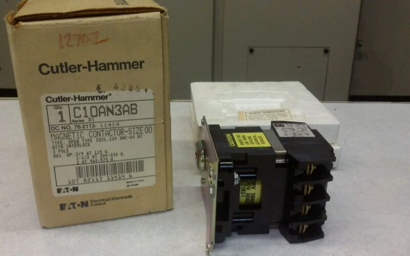 C10AN3AB CUTLER-HAMMER MAGNETIC CONTACTOR NEW