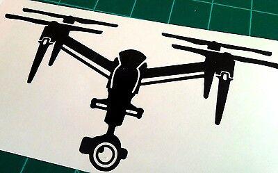 DJI Inspire 2 Drone decal detailed QUAD UAV sticker car window die cut vinyl