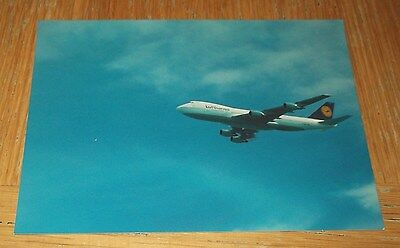 Lufthansa Boeing 747-200 branded postcard MINT CONDITION