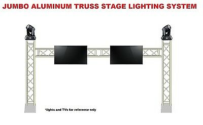 Complete 15ft Square Aluminum Truss TV Mount Lighting System DJ Lights Speakers