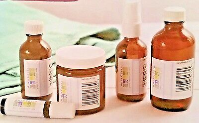 For DIY Projects - Aura Cacia Amber Containers - Various Shapes and - Glass Bottle Projects
