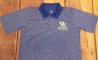 (New University of Kentucky UK Wildcats Blue Embroidered Polo Shirt #27C)