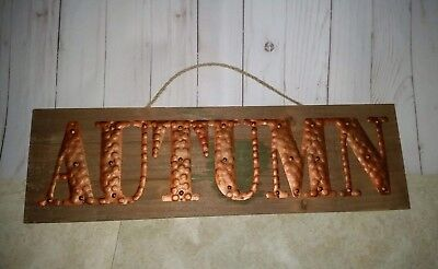 New Autumn/Fall Pallet decor hanging  sign with copper metal lettering ](Decorating With Pallets)