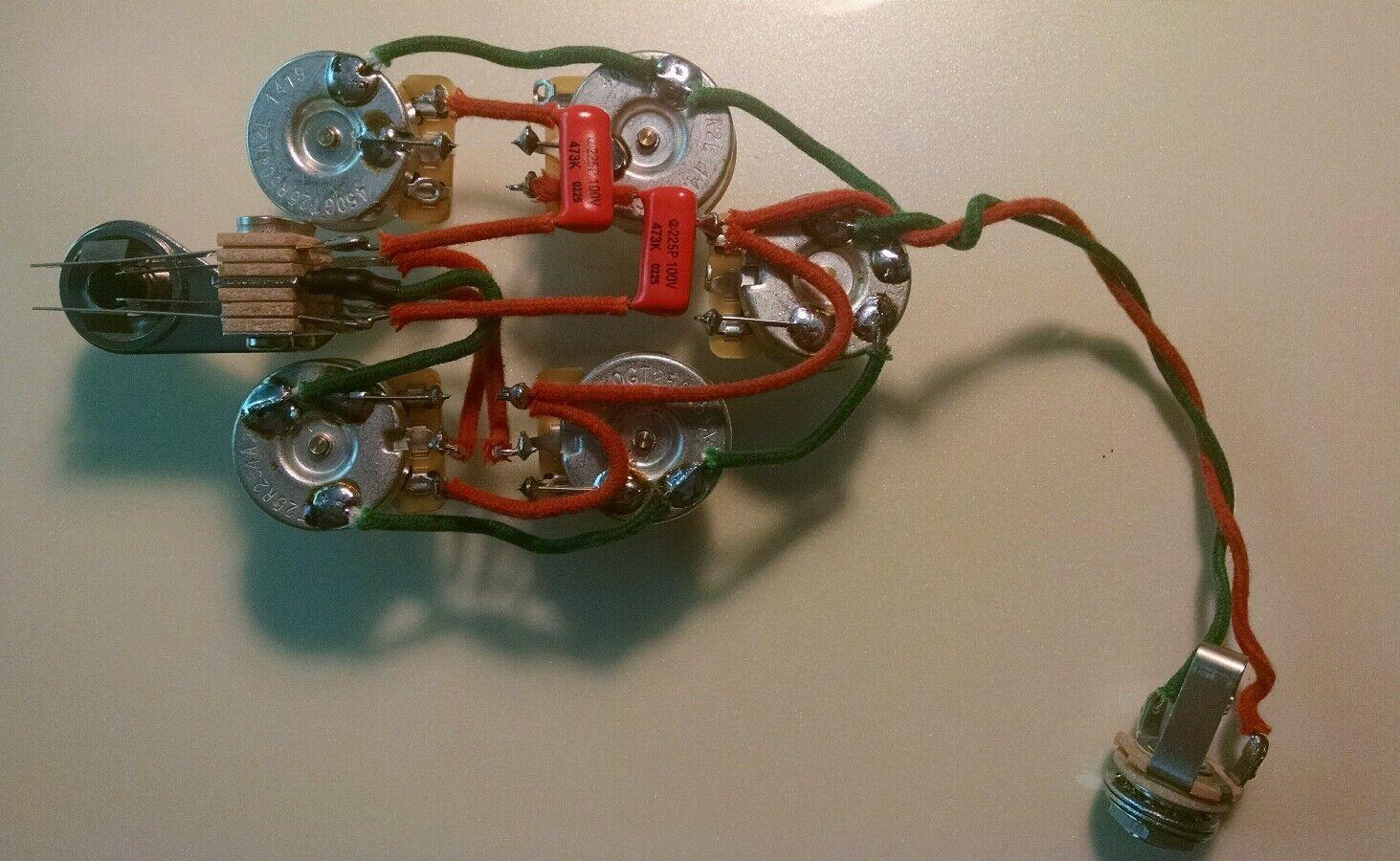Rickenbacker 340 370 350SH 3 Pickup Guitar 5 Control Wiring Harness _57 rickenbacker 370 wiring diagram somurich com