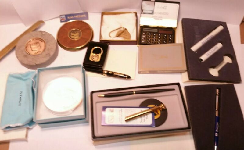 Vintage Huge Lot of Chevron Standard Oil Gas Collectables Tiffany & Co. Award!!