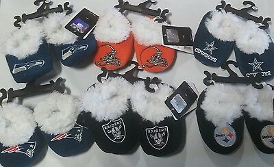 Football Infant Newborn Baby Booties Slippers NEW Shower Gift - Pick team & size](Sports Baby Shower)