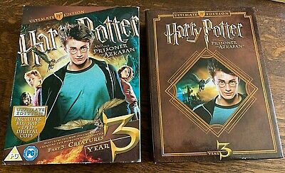 Ultimate Edition Harry Potter And The Prisoner Of Azkaban Blu Ray & DVD + extras