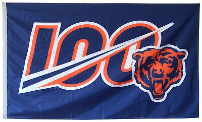 Chicago Bears 100th Season Flag 100 NFL 3x5ft Banner Anniver