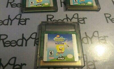 SpongeBob SquarePants: Legend of the Lost Spatula Nintendo GameBoy Color GBA