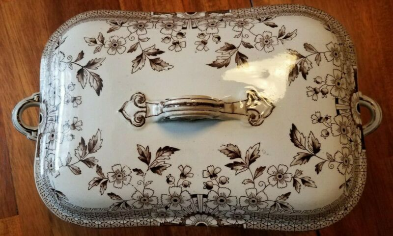"ANTIQUE A.F. & Co. ""FOLEY"" PATTERN VEGETABLE DISH STAFFORDSHIRE GREAT CONDITION."
