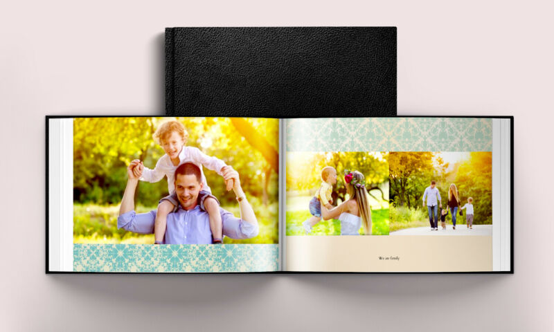 Custom 8x6 inches Leather Cover 20-Page Photo Book Personalized Memory Album