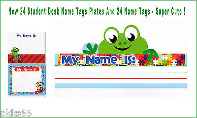 Set Of 48 Student Desk Name Tags Plates And Name Tags - Super Cute
