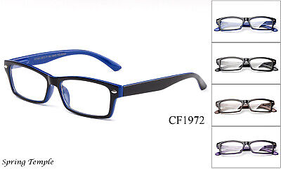 Clear Lens Glasses Simple Quality Fake Eyewear Spring Hinge Office Smart UV 100%](Fake Plastic Glasses)