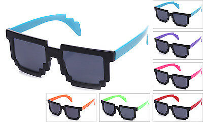 Pixel Gaming Retro Fun Party Novelty Glasses Cool Favors Fun PTS211-A - Retro Novelties
