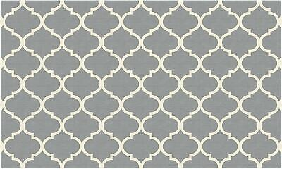 Ruggable 2-pc Washable Rug System: 3' FT X 5' Ft RUGGABLE Moroccan Grey