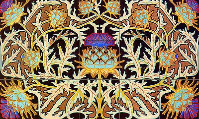 Colorful Ceramic Mural Backsplash Art Nouveau Tile #500