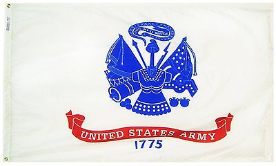 U.S. ARMY 1775 DOUBLE SIDED EMBROIDERED 3'X5' FLAG WITH GROMMETS BRAND NEW