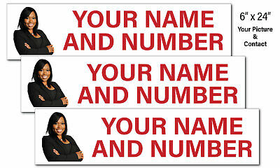 Real Estate Sign Riders Name Number Pic 9pk Corrugated Plastic Free Ship