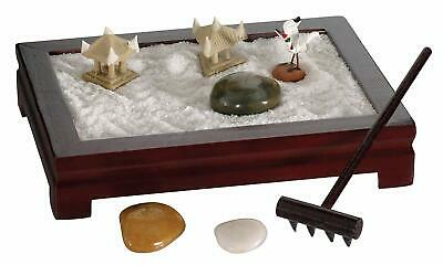 NEW SEALED BOX DMG Toysmith Mini Zen Garden - 7 Pieces - Rosewood or Black FS Rosewood Mini Box