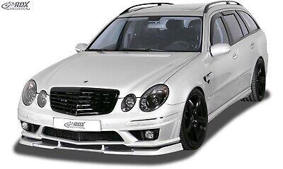 RDX Spoilerlippe für MERCEDES E-Klasse W211 AMG Frontspoiler Spoilerschwert ABS