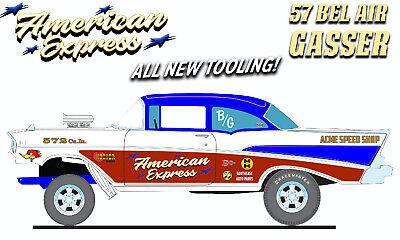 ACME Pre-Order 1:18 1957 CHEVROLET BEL AIR GASSER - AMERICAN EXPRESS NIB