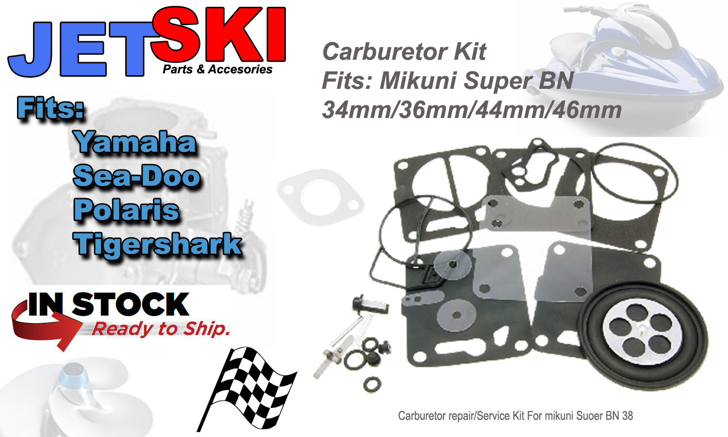 Mikuni Carburetor Carb Rebuild Kit Sea-Doo 587 717 787 SP SPI SPX HX XP GTX GTI