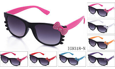 Hello Kitty Sunglasses Cute Faux Shinning Bow Womens Eyewear Fun Party UV (Hello Kitty Sunglasses With Bow)