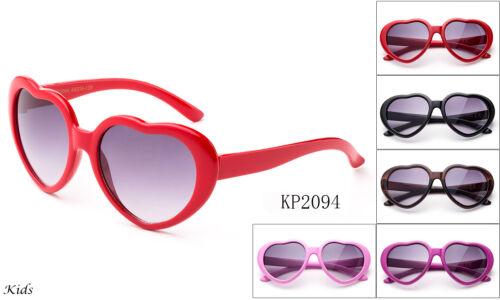 Kids Sunglasses Cute Heart Shaped Classic Elegant FDA Approved UV 100% Lead Free