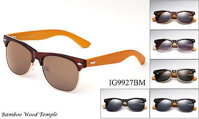 Classic Bamboo Sunglass Eyewear Wooden Bamboo Frame Casual Retro UV (Wooden Eyewear Frames)