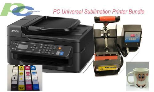 PC Universal Sublimation Bundle with Printer, Heat Press Machine & Assorted Mugs
