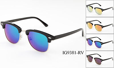 Classic Sunglasses Mens Flash Lens Vintage Driving Glasses Aviator Retro (Cheap Vintage Eyewear)