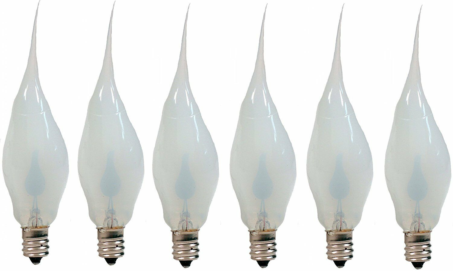 Silicone Dipped Flickering Flame Bulb, Country Candle Lamp Style, Pack of 6 Home & Garden