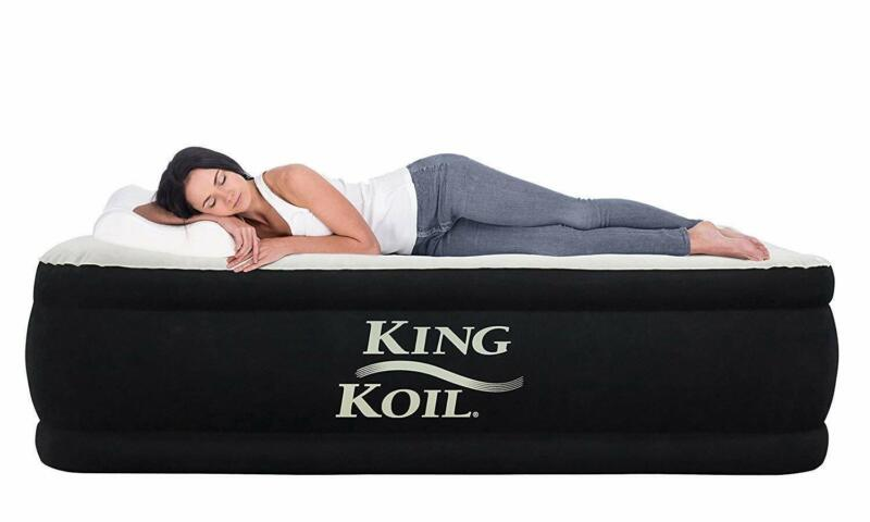 King Koil Twin Air Mattress with Built-in Pump - Double High