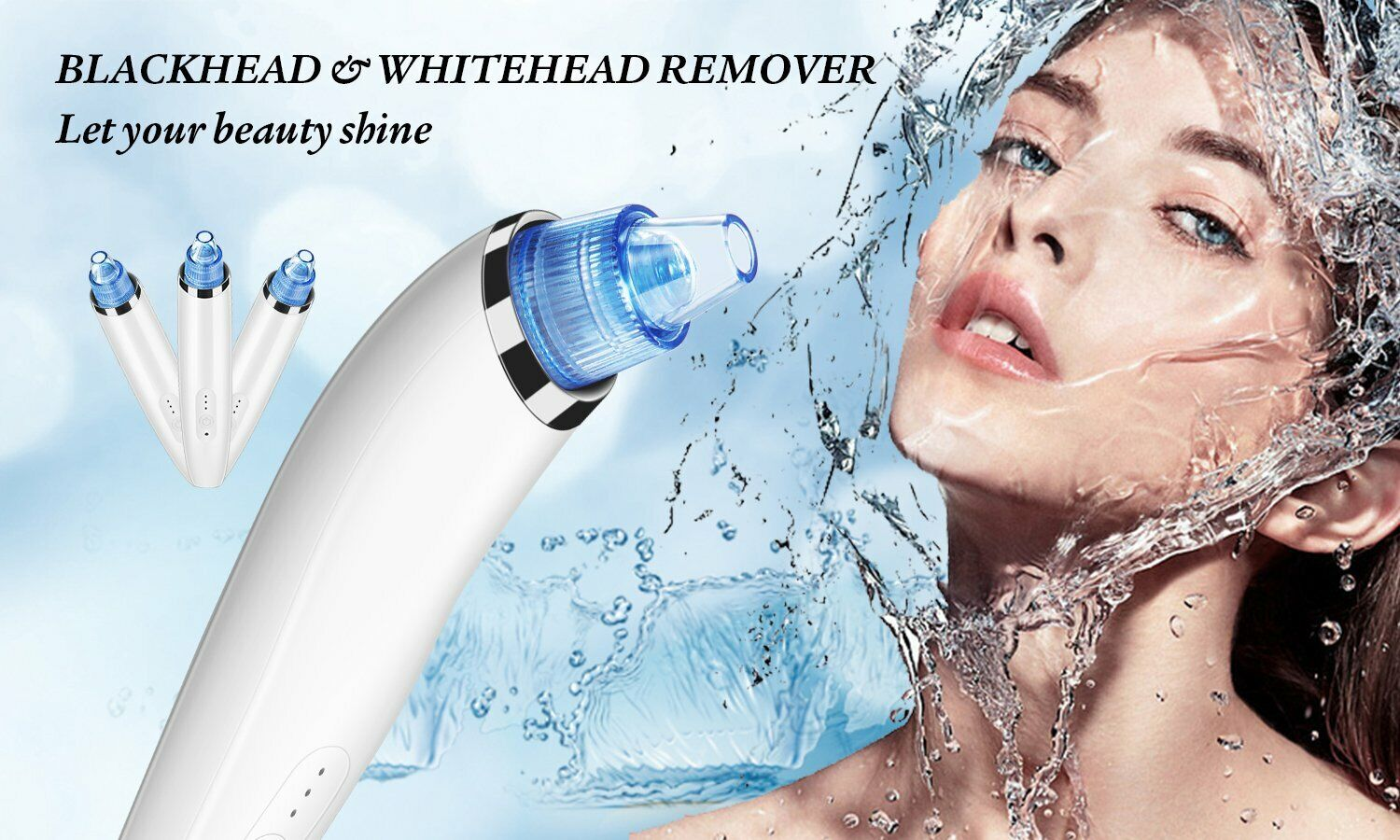 Home Facial Electric Suction Vacuum Acne Pore Blackhead Extractor Free Shipping Facial Cleansing Devices