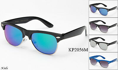 Kids Sunglasses Retro Fashion Toddler Children Youth Lead Free UV100% Boys (Kids Fashion Sunglasses)