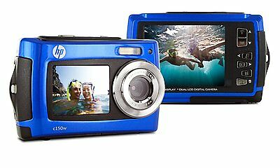 HP C150W waterproof digital photo camera Blue 8MP 2.7 inch LCD NEW, usado comprar usado  Enviando para Brazil