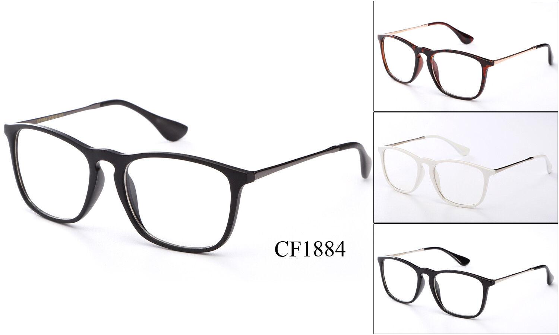 Retro Klarglas Brille Brillen Nerd Office Falsch Smart Rahmen UV Schutz