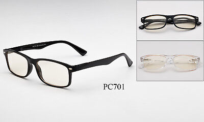 Clear Computer Glasses Blue Light Block Filter Spring Hinges Anti-Glare Dry Eye (Anti Glare Clear Glasses)