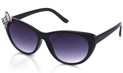 Hello Kitty Cat eyes Women Bow Sunglasses Girl Lady Party Fashion Design UV (Hello Kitty Sunglasses With Bow)