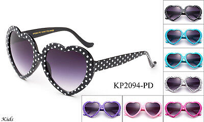 Cute Kids Sunglasses Polka Dots Heart Shaped Birthday Party FDA Approved UV (Dot Approved Sunglasses)