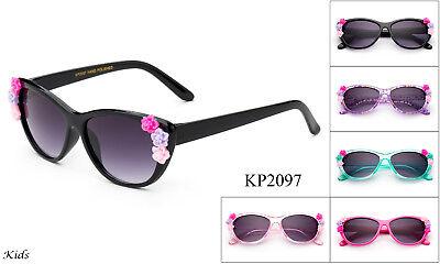 Kids Sunglasses Girls Toddlers Flowers Cute FDA Approve Lead Free 1-5 YRS (Cute Teen Sunglasses)