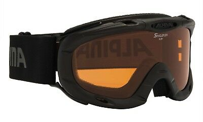 Alpina Ruby S Jugend Skibrille Winter Snowboard Kinder Brille - black NEUWARE ()