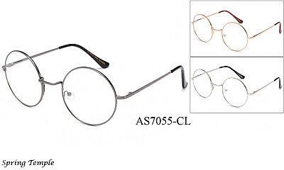 Klassisch Klar Linse Gläser John Lennon Retro Runde Brillen Hippies UV 100%