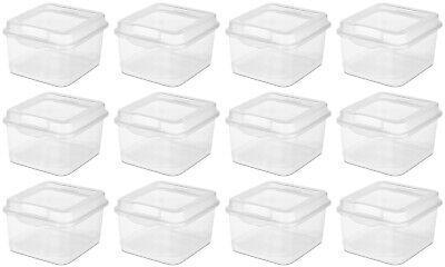 Sterilite Plastic FlipTop Latching Storage Box, Clear  18038