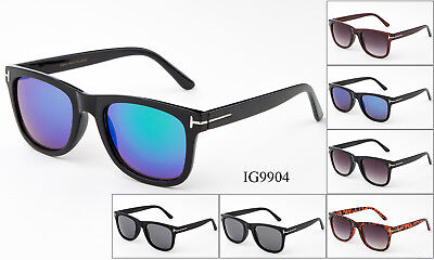 12 Pairs New Men's Flash Mirror  Fashion Plastic Designer Sunglasses Wholesale - Plastic Sunglasses Wholesale