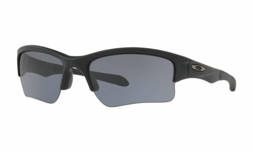 NEW Authentic OAKLEY Matte Black Quarter Jacket SUNGLASSES OO9200-06 Grey Lens