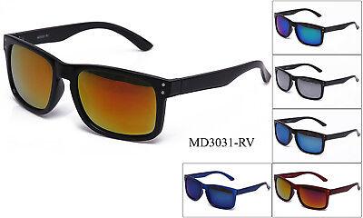 Flashing Sunglasses (Popular Sunglasses Retro Keyhole Flash Mirror Lens Gangster OG Biker New UV)
