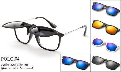 Polarisiert Aufklappen Clip auf Sonnenbrille 100% UV Schutz Fischen Herren Damen