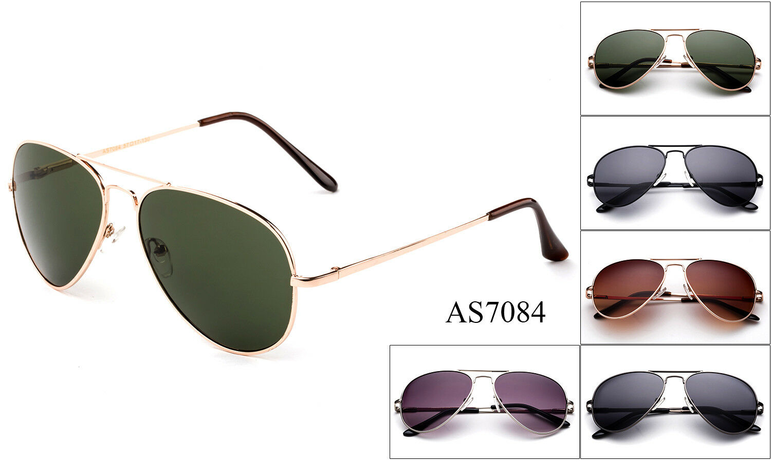 Aviator Sunglasses Top Gun Classic Metal Spring Frame Men Wo
