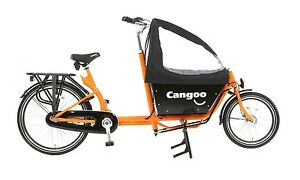 Bakfiets Cargo Family Bike 3 speed Shimano Nexus 2 seats Bakfeetz NEW orange